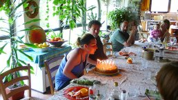 In the Community of Dendera a birthday cake party